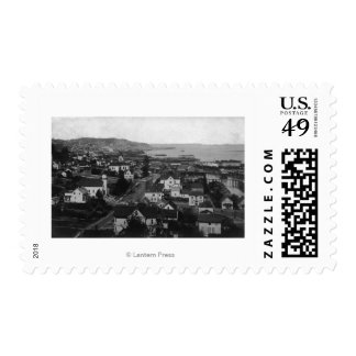 Astoria, Oregon Town View Looking West Postage