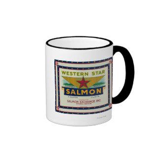 Astoria, Oregon - Western Star Salmon Case Label Coffee Mug