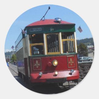 Astoria Riverfront Trolley Classic Round Sticker