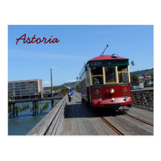 Astoria Riverfront Trolley Postcard