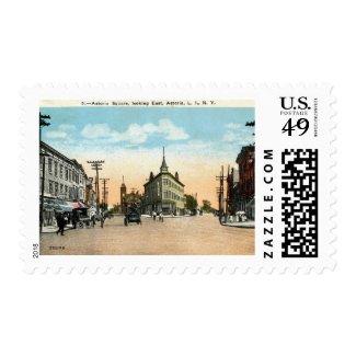 Astoria Square, Astoria, Queens, New York Vintage Postage Stamp