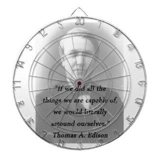 Astound Ourselves - Thomas Edison Dart Board