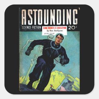 Astounding Science Fiction_ June 1941_Pulp Art Square Sticker
