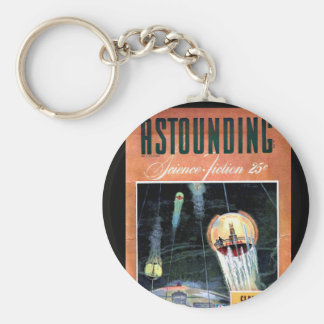 Astounding Science Fiction_ March 1943_Pulp Art Basic Round Button Keychain