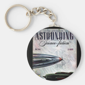 Astounding Science Fiction_ May 1945_Pulp Art Basic Round Button Keychain