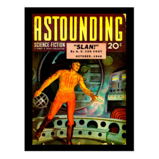 Astounding Science Fiction_ October 1940_Pulp Art Postcard