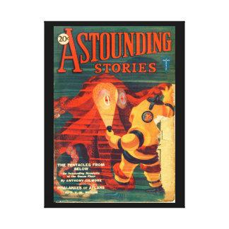 Astounding Stories - Feb 1931a_Pulp Art Canvas Print