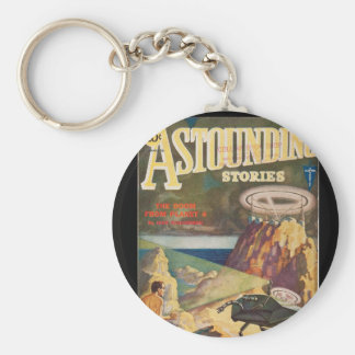 Astounding Stories _July 1931_Pulp Art Basic Round Button Keychain