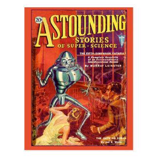 Astounding Stories of Super Science Jan 1931 Postcard