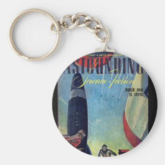 Astounding v037 n01 [1946-03] cover_Pulp Art Basic Round Button Keychain