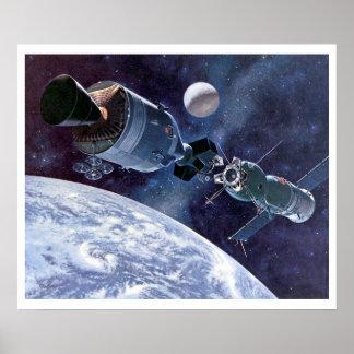 ASTP Docking Apollo Soyuz Spacecraft Print