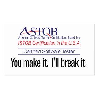 ASTQB certificó el probador del software que usted Tarjetas De Visita