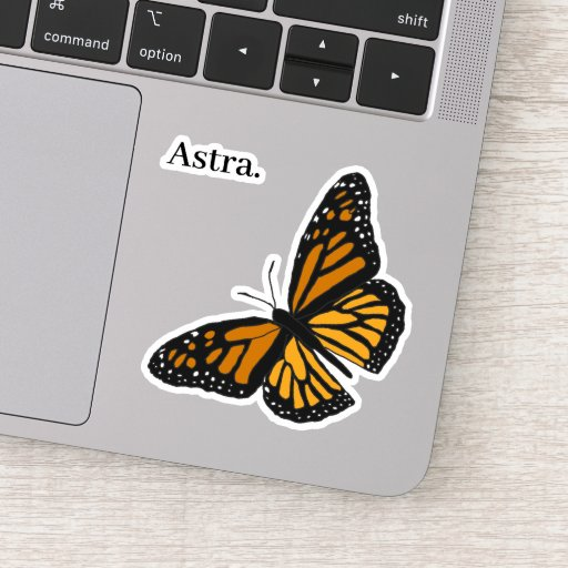 Astra butterfly sticker