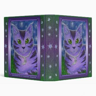 Astra Celestial Moon Star Cat Fantasy Avery Binder