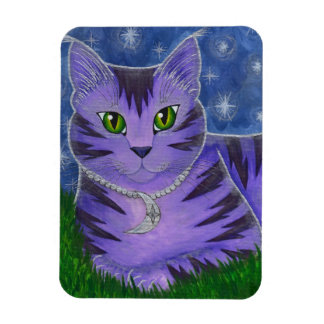 Astra Celestial Moon Stars Cat Fantasy Art Magnet