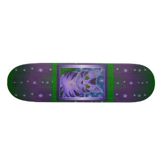 Astra Celestial Moon Stars Cat Fantasy Skateboard