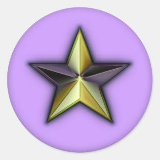Astra Metallica Lavender Classic Round Sticker
