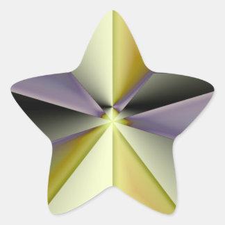 Astra Metallica Pegatina En Forma De Estrella