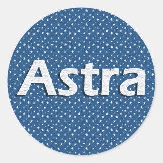 Astra Pegatina Redonda