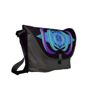 Astract Pastel Purple Dharma Messenger Bag