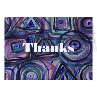 Astract Sports Thank You Card Bat Bar Mitzvah blue