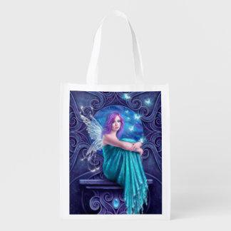 Astraea Fairy & Butterflies Reusable Grocery Bag
