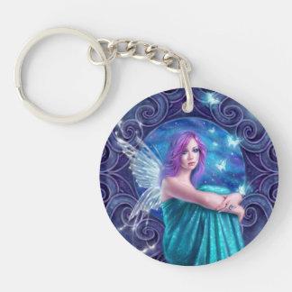 Astraea Fairy & Butterflies Round Acrylic Keychain