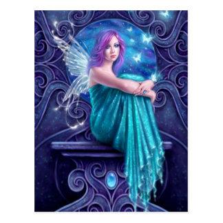 Astraea Fairy with Butterflies Art Postcard
