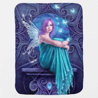 Astraea Fairy with Butterflies Baby Blanket