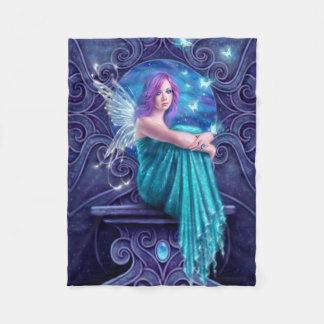 Astraea Fairy with Butterflies Fleece Blanket
