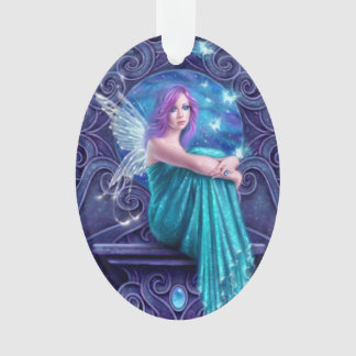 Astraea Fairy with Butterflies Oval Ornament
