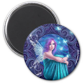 Astraea Fairy with Butterflies Round Magnet