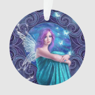 Astraea Fairy with Butterflies Round Ornament