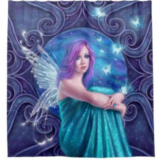 Astraea Fairy with Butterflies Shower Curtain