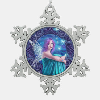 Astraea Fairy with Butterflies Snowflake Ornament