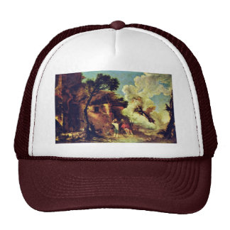 Astraias Farewell To The Shepherds By Rosa Salvato Trucker Hat