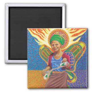 Astral Angel  2 Inch Square Magnet