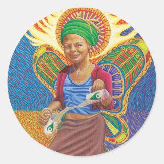 Astral Angel  Classic Round Sticker
