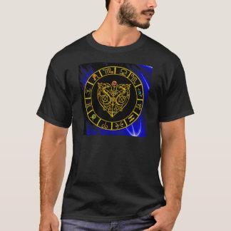 ASTRAL CELTIC HEART Zodiac Signs ,Astrology Chart T-Shirt