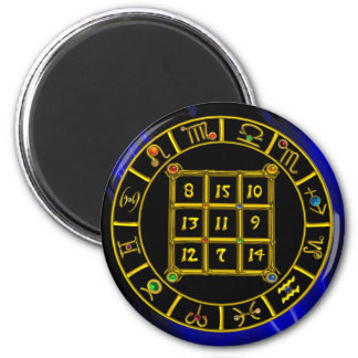 ASTRAL CODE / MAGIC SQUARE 33 2 INCH ROUND MAGNET