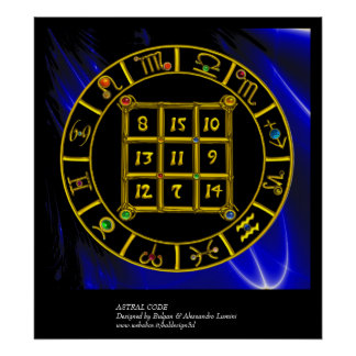 ASTRAL CODE / MAGIC SQUARE 33 POSTER