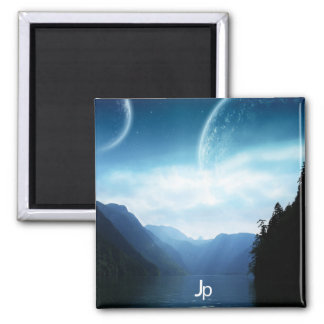 Astral Dawning Square Magnet