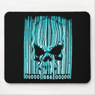 Astral Demon Barcode 666 Mouse Pad
