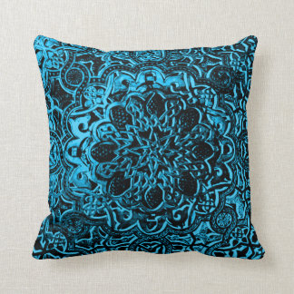 Astral Demon Lotus Throw Pillow