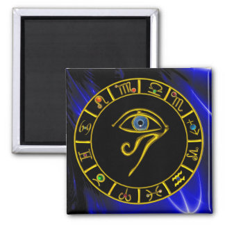 ASTRAL EYE / BLUE TALISMAN 2 INCH SQUARE MAGNET