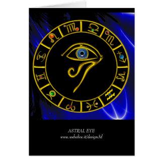 ASTRAL EYE / BLUE TALISMAN GREETING CARD