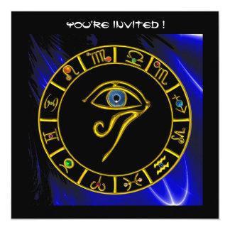 "ASTRAL EYE / BLUE TALISMAN 5.25"" SQUARE INVITATION CARD"