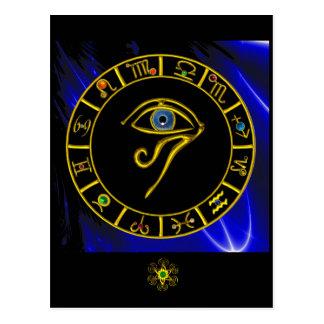 ASTRAL EYE / BLUE TALISMAN POSTCARD