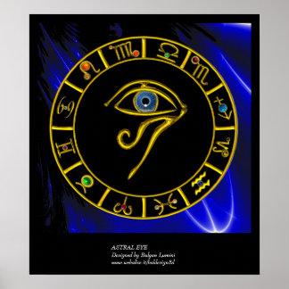 ASTRAL EYE BLUE TALISMAN PRINT