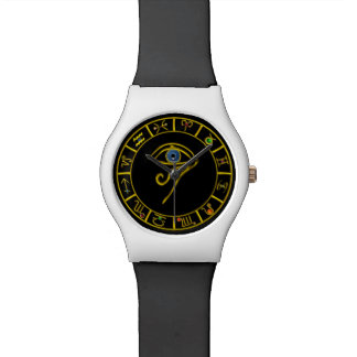 ASTRAL EYE / BLUE TALISMAN WITH ZODIACAL SIGNS WRIST WATCH